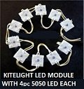 ALUMINIUM LED MODULES -RECHT EN VIERKANT-